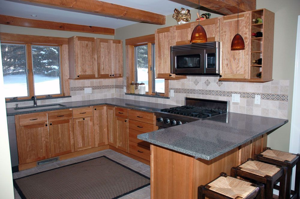 White Cabinets Peninsula Counter Home All Kitchen Projects