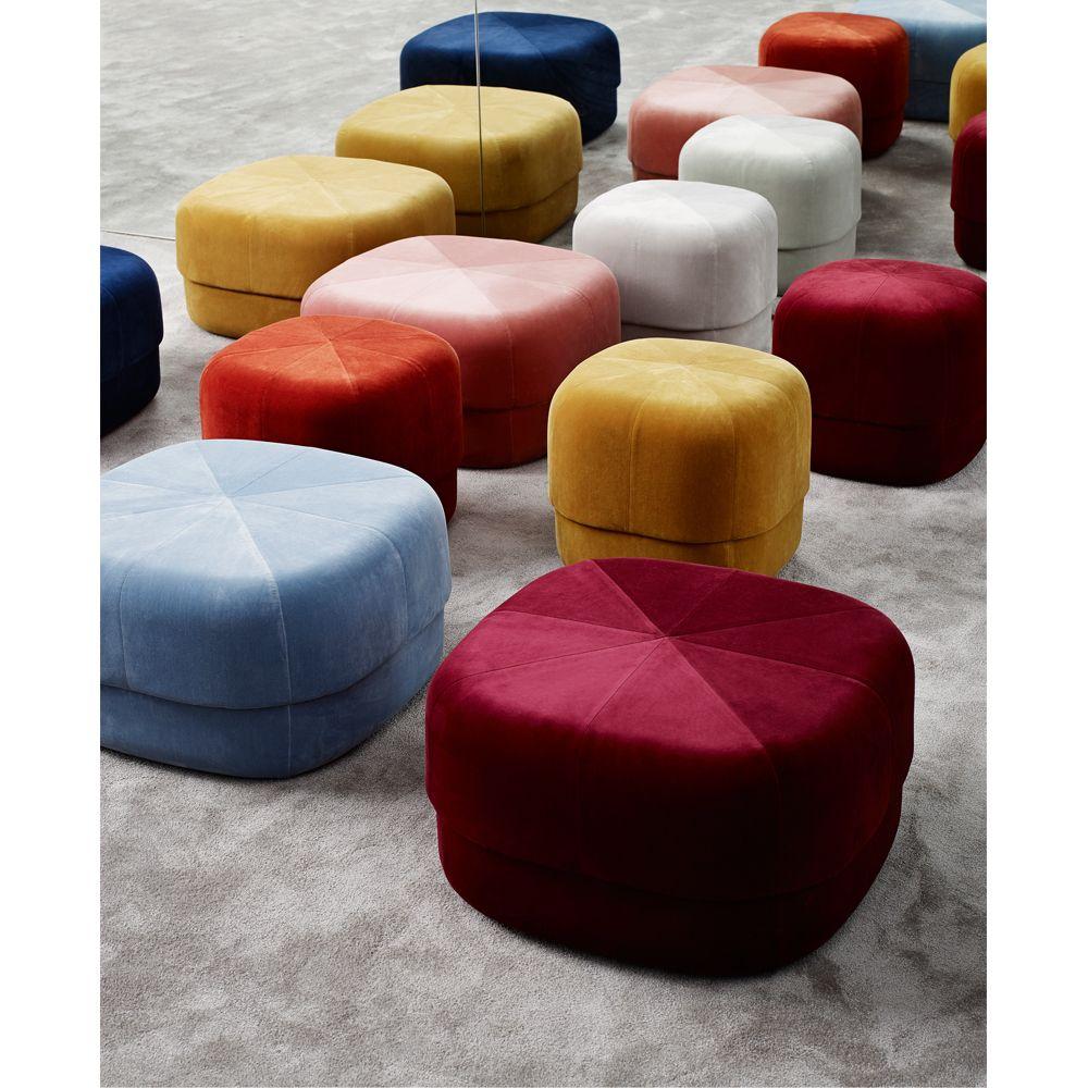 Circus Velvet Pouffe 35x65x65cm Product Decoration Interieure