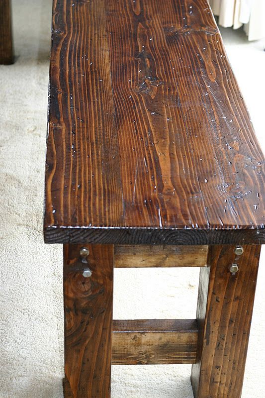 Farmhouse Bench Diy Furniture Decor Rustic Wooden Bench