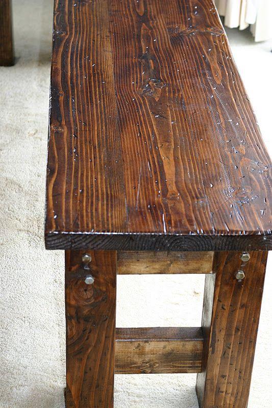 Farmhouse Bench Diy Furniture Decor Rustic Wooden Bench