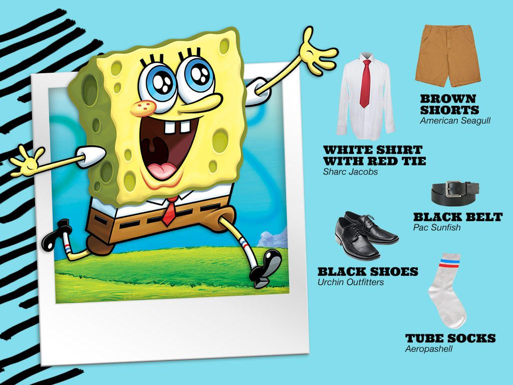 Steal this look and dress like SpongeBob!