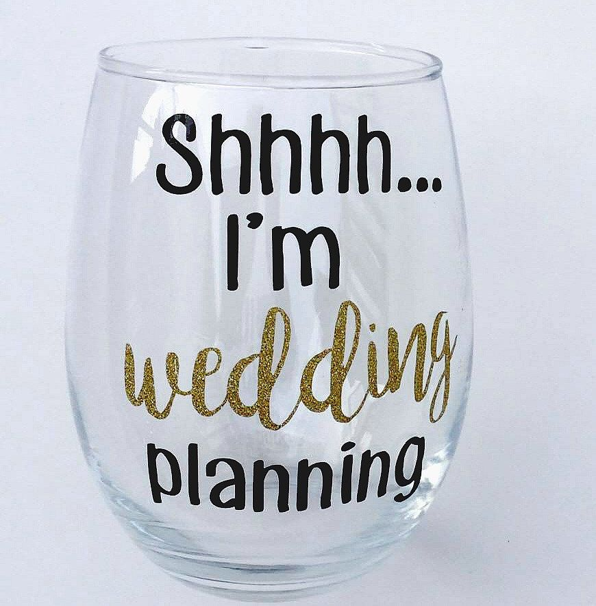 A personal favorite from my Etsy shop https://www.etsy.com/listing/502231831/wedding-stemless-engagement-gift-wedding