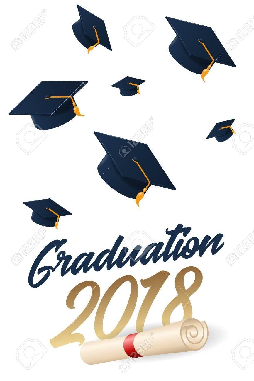 Graduation Invitation Card Template Luxury Graduation 2018 Poster With Hat O Graduation Invitation Cards Graduation Invitations Printable Graduation Invitation