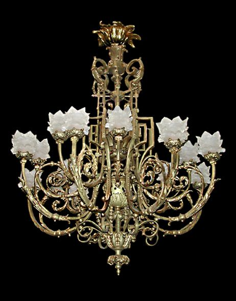 French bronze neo classical chandelier it has at least 18 lights french bronze neo classical chandelier it has at least 18 lights and a greek key design throughout aloadofball Image collections