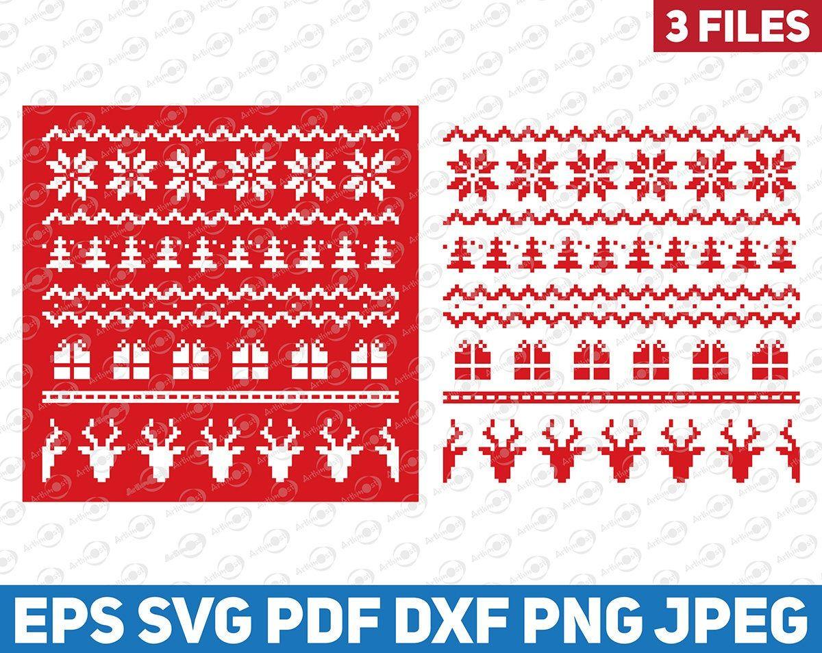 Christmas Sweater Pattern Svg Christmas Seameless Pattern Etsy Cricut Stencils Handmade Etsy Gifts Etsy