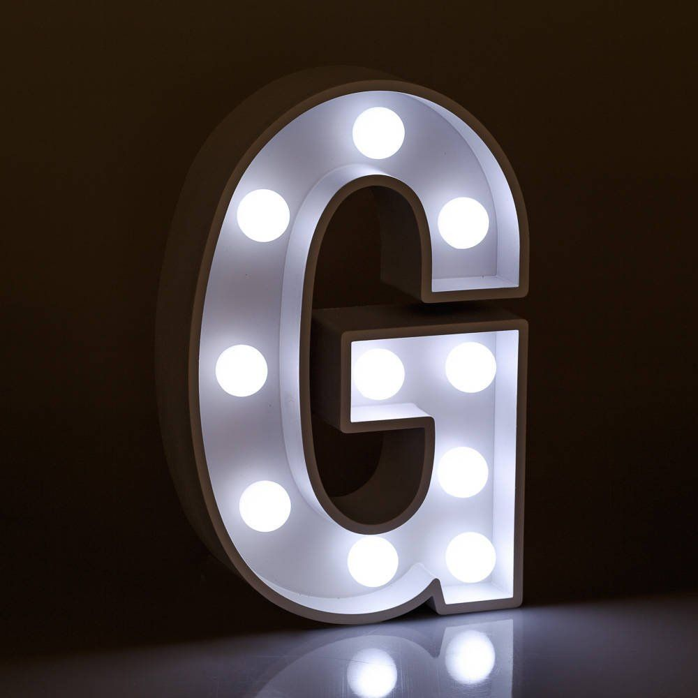 Light Up Letters G Marquee Letters Led Bedside Lamp White Etsy In 2020 Light Up Letters Marquee Letters Light Letters
