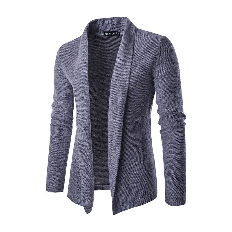 Men's Wear. 2016 new. Men's sweaters. No button cardigan. Fashion solid  color