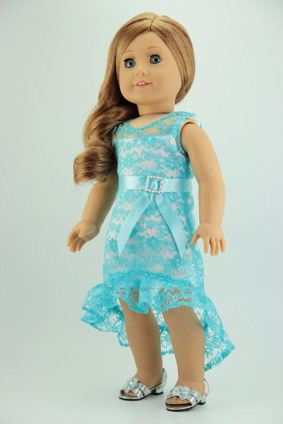 American Girl doll clothes - Lacy high-low dress (fits 18