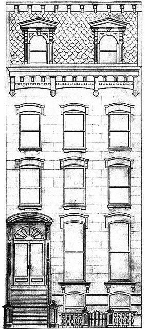 brownstone drawing | Solo casas, Dibujo y Bordado