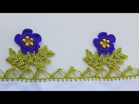Yaprak Üstü Renkli Çiçekler Tığ Oyası Yapılışı Videolu Anlatımlı