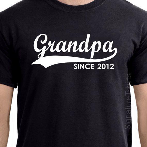GRANDPA Since ANY YEAR TShirt tshirt by signaturetshirts on Etsy