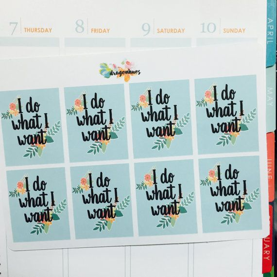 Q1 Full Box Quote Planner Stickers for Erin Condren, Day Designer, Filofax planners