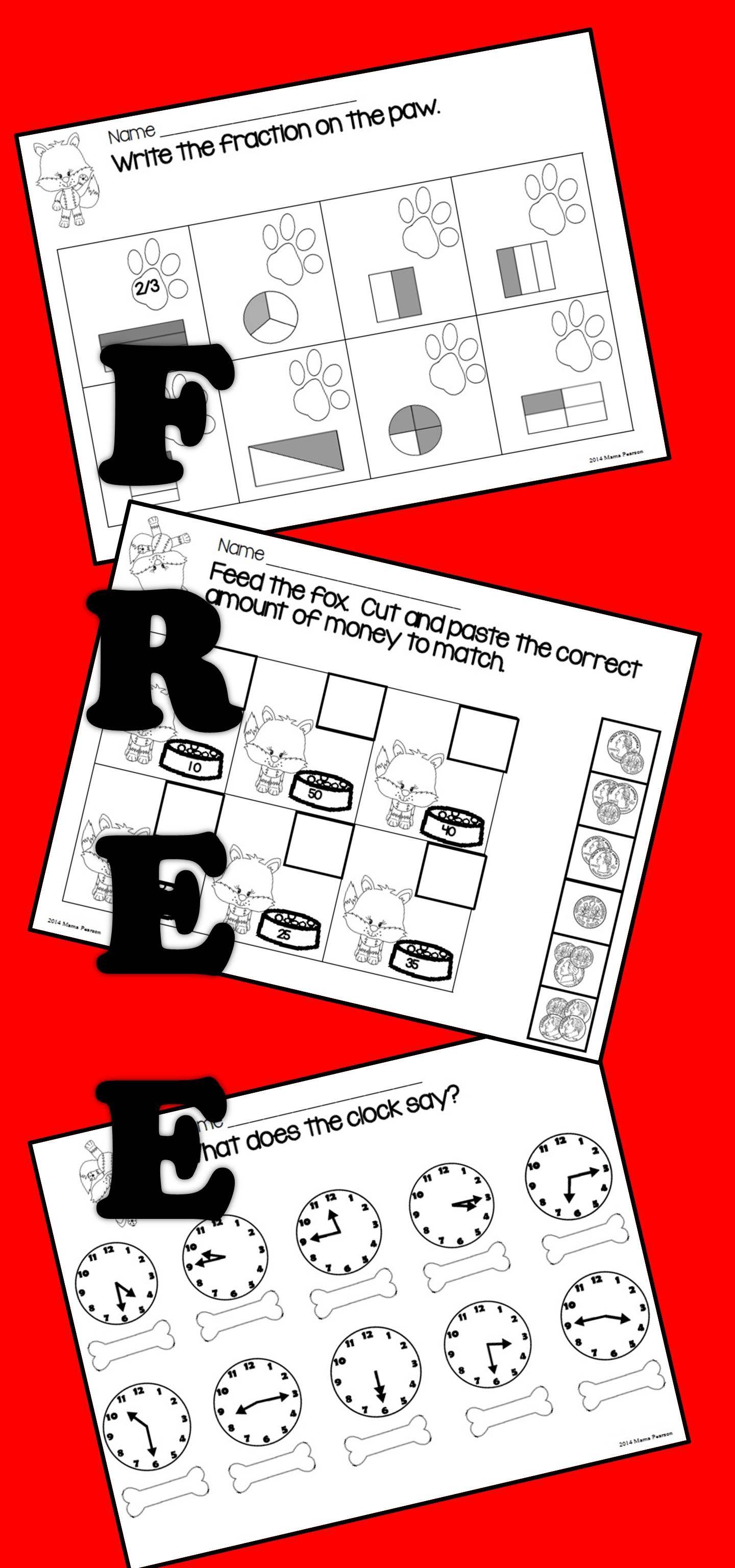 FREE NO PREP Math Printables Homeschool math, Math