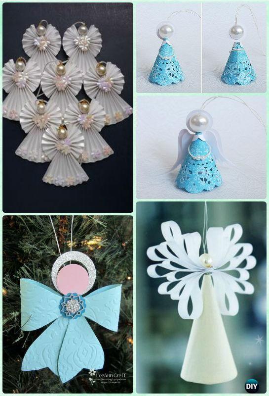 DIY Paper Angel Ornament Instruction- DIY Paper Christmas Tree Ornament  Craft Ideas - DIY Paper Christmas Tree Ornament Craft Ideas Instructions
