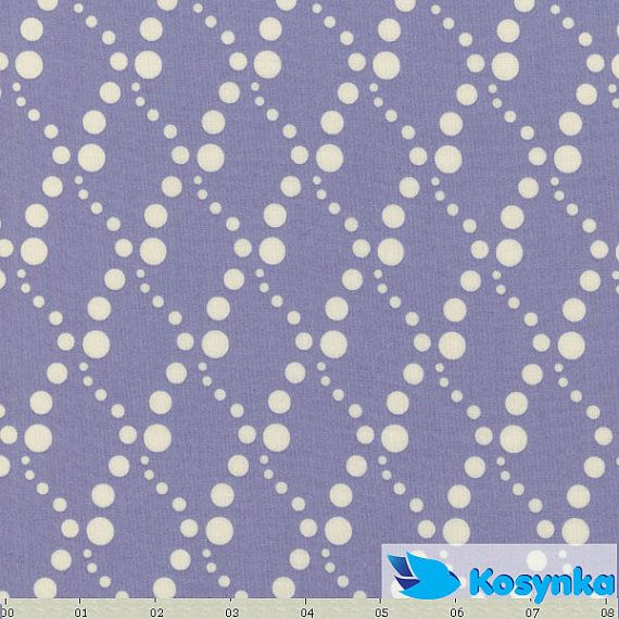 Lavender Polka dot fabric  designer cotton fabric fun by Kosynka, $4.99