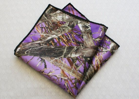 Camouflage Pocket Square Purple Camo Pocket Square By Idodoodads
