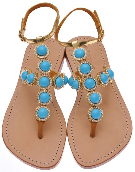 C 1248 Afternoon In Paris Jeweled Sandals   Jeweled sandals