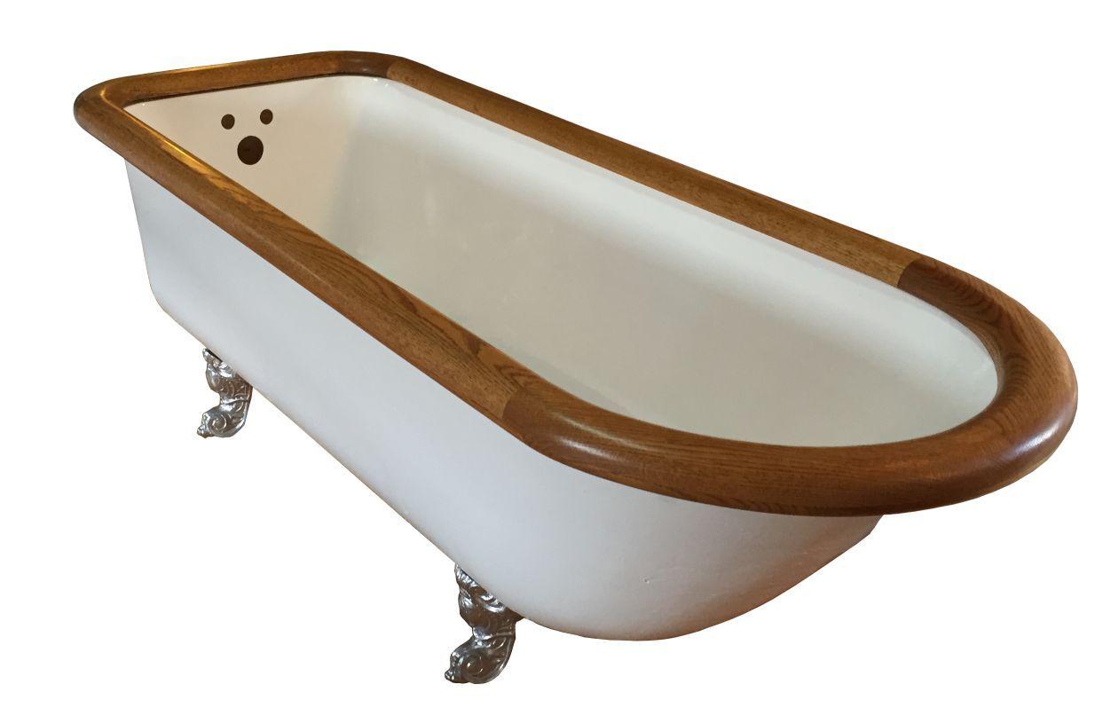 Image result for claw foot bath tub with oak rim deabath.com | Old ...