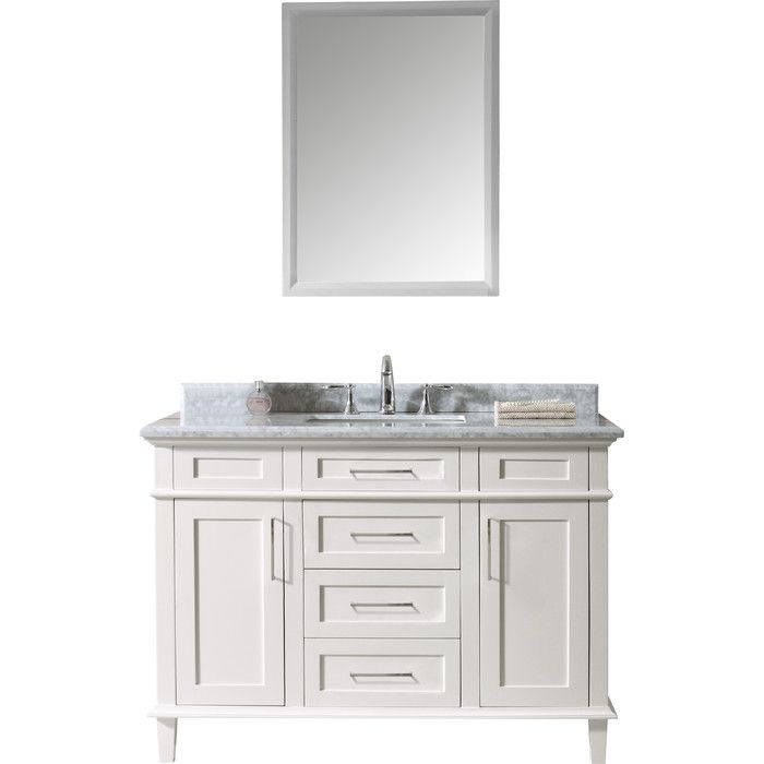 "Ari Kitchen & Bath Newport 48"" Single Bathroom Vanity Set Fair Bathroom Cabinet Reviews Inspiration"