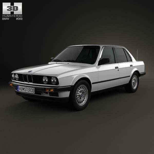 BMW 3 Series Sedan (E30) 1990 3d Model From Humster3d.com