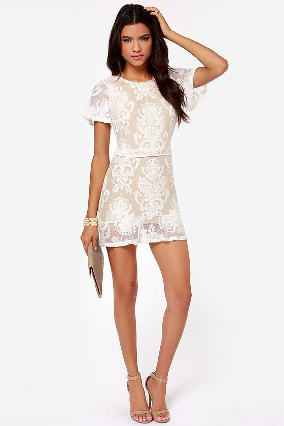 6f4344573c79 For Love & Lemons San Marcos Backless Ivory Lace Dress | My Style ...