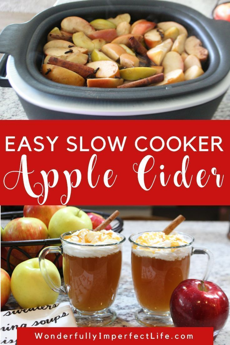 Slow Cooker Apple Cider - Wonderfully Imperfect Life