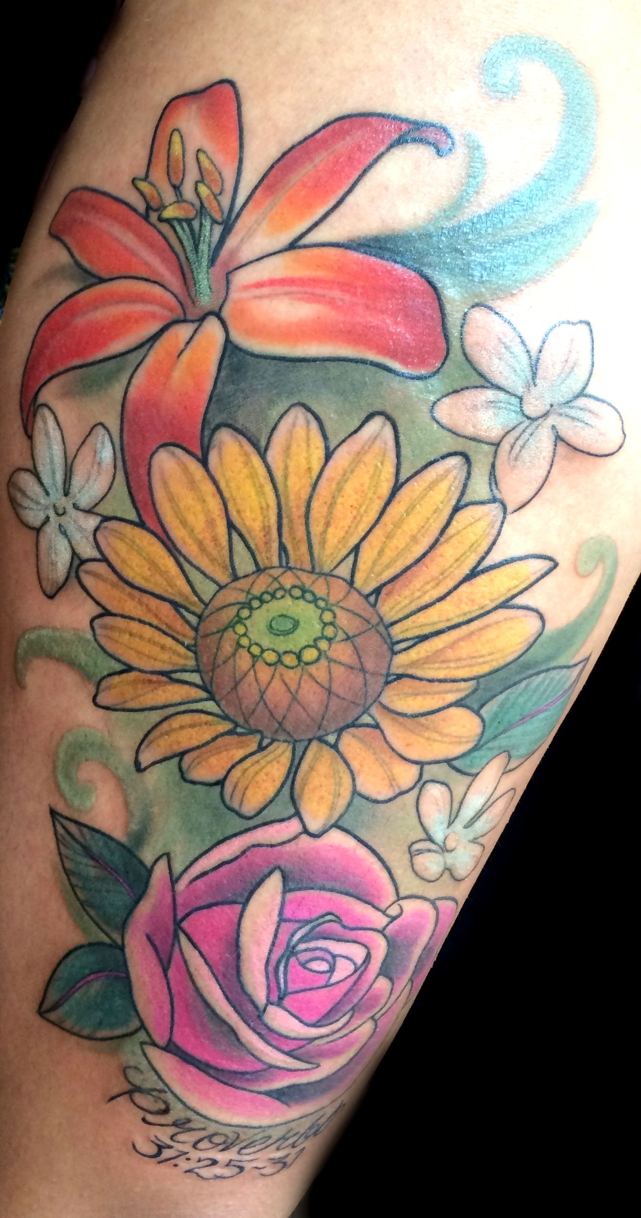 30 lily flower tattoos design ideas for men and women lily 30 lily flower tattoos design ideas for men and women dhlflorist Images