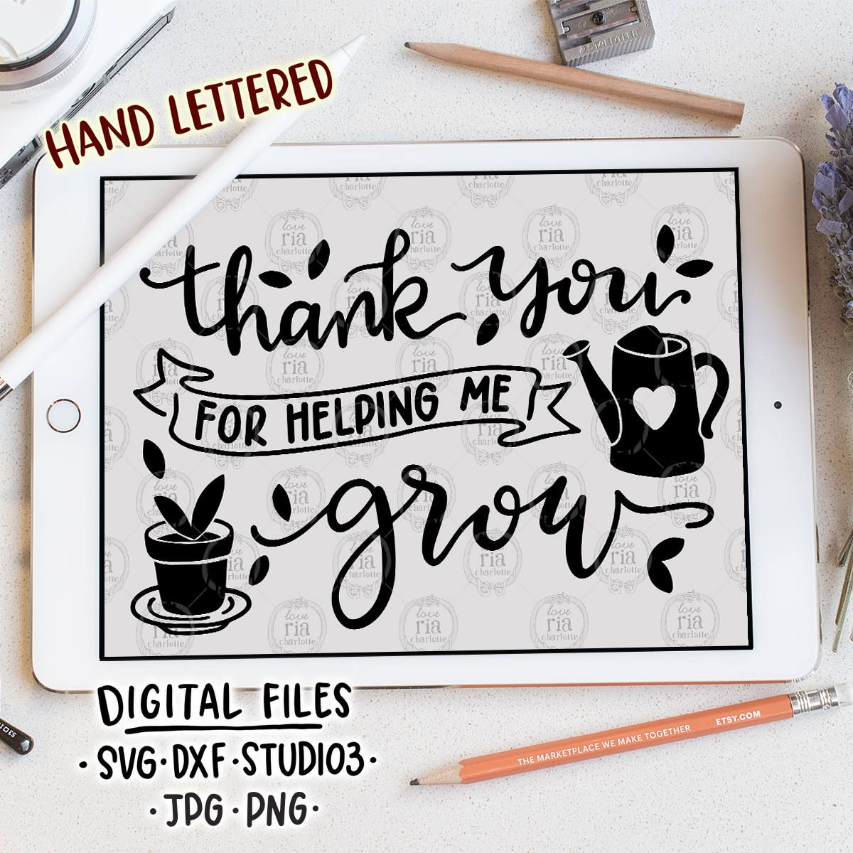 Thank You For Helping Me Grow Teachers Day Gift Quote Etsy Gift Quotes Teachers Day Gifts Help Me Grow