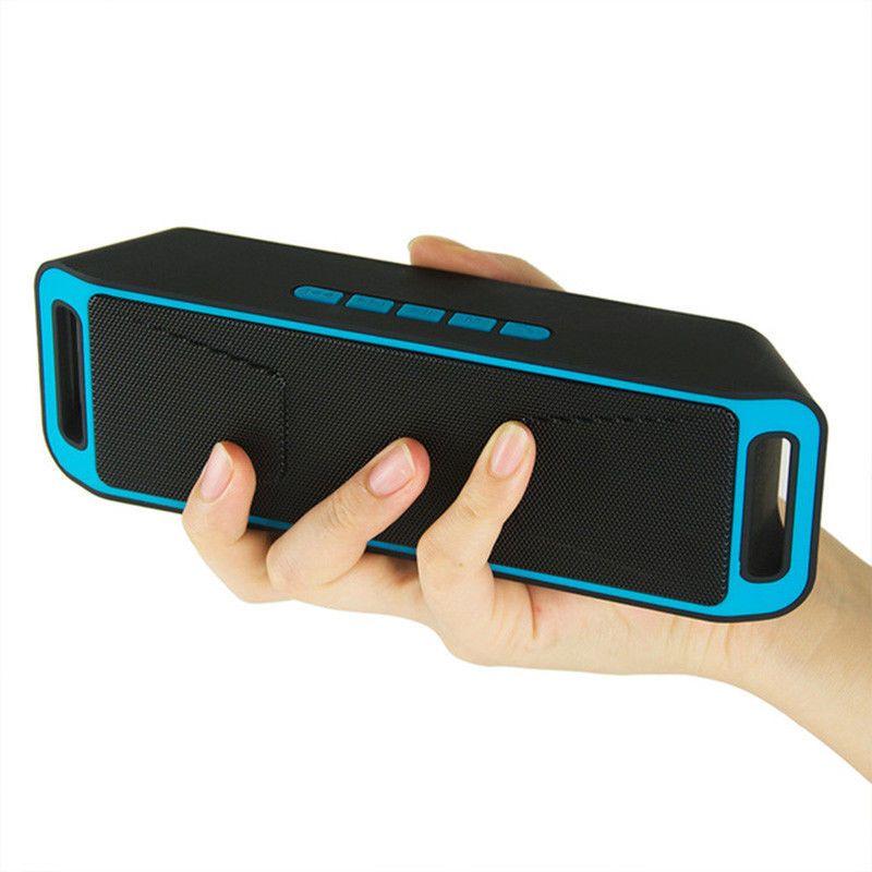 Portable Mini Bluetooth Speaker Wireless Bass Speaker With TF USB FM Radio SP