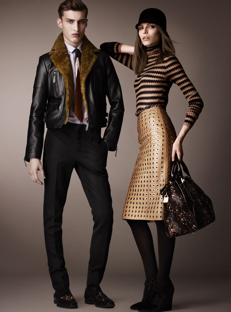 0fabb673bce8 Charlie France Steps Out in Burberry Prorsums Pre Fall 2013 Collection