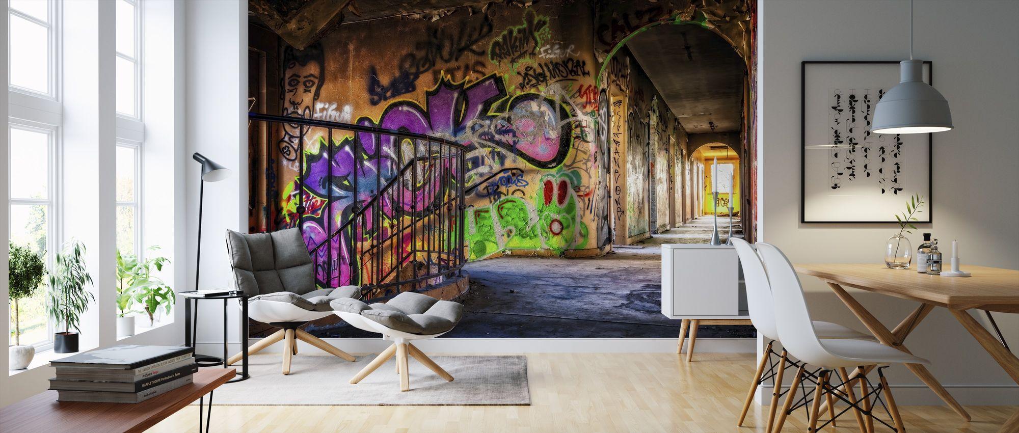 Colorful Grafitti madetomeasure wall mural Photowall