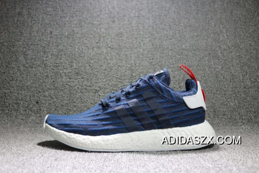 f9f1cbfe5eda8 Top Deals Adidas Nmd R2 Primeknit Collegiate Navy-Running White Footwear  Mens