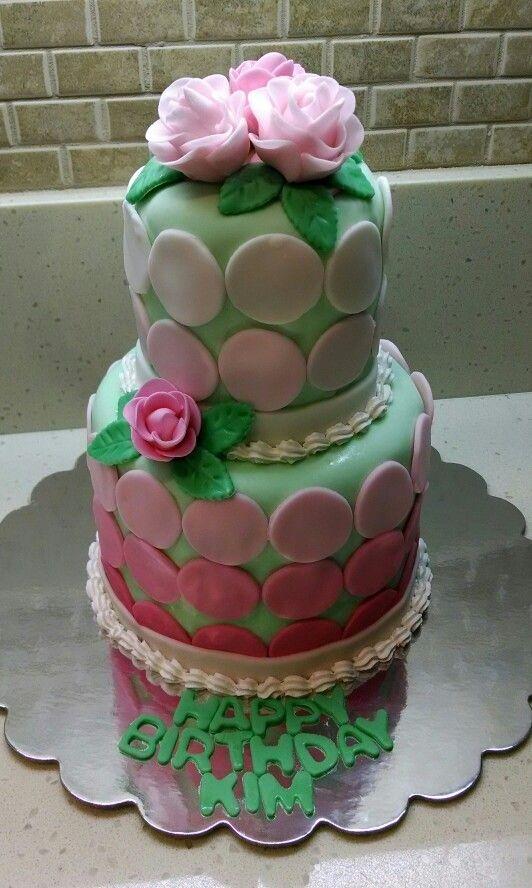 Kims Beautiful Cake From Her Friend Seema Happy Birthday Kim We