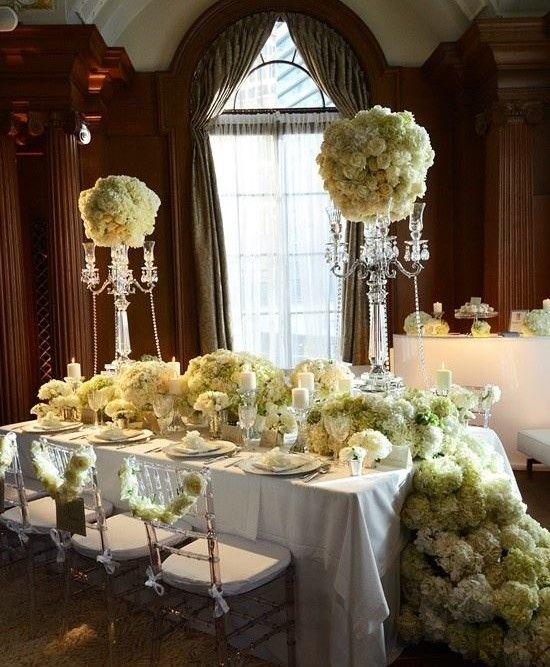 Alejandra vita planeador de bodas flores blancas centro de for Budas decoracion interior