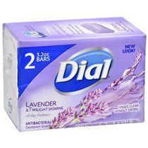 Dial Lavender & Twilight Jasmine Antibacterial Deodorant Soap, 2-Bar Packs