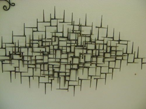 Mid Century Modern Vintage Metal Wall Art Jere Nail