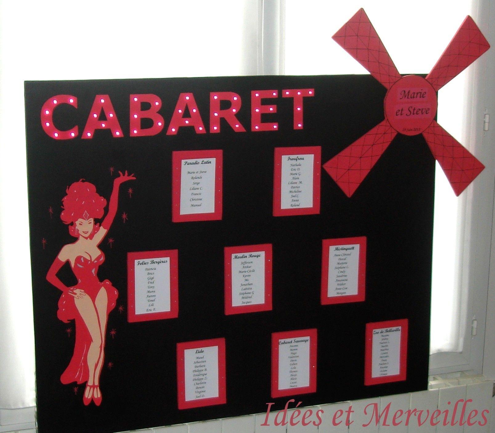 Plan De Table Cabaret Danseuse Idees Et Merveilles