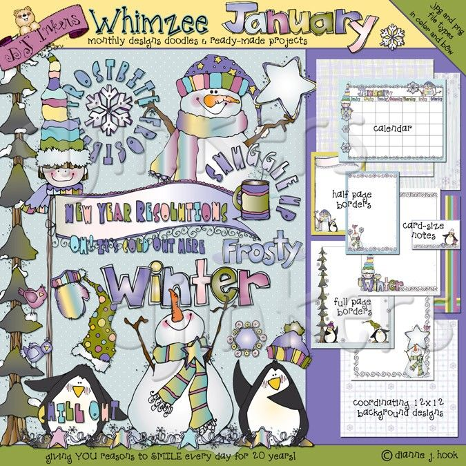 whimzee january winter clip art snow clip art cute penguins cute snowman new year resolutions