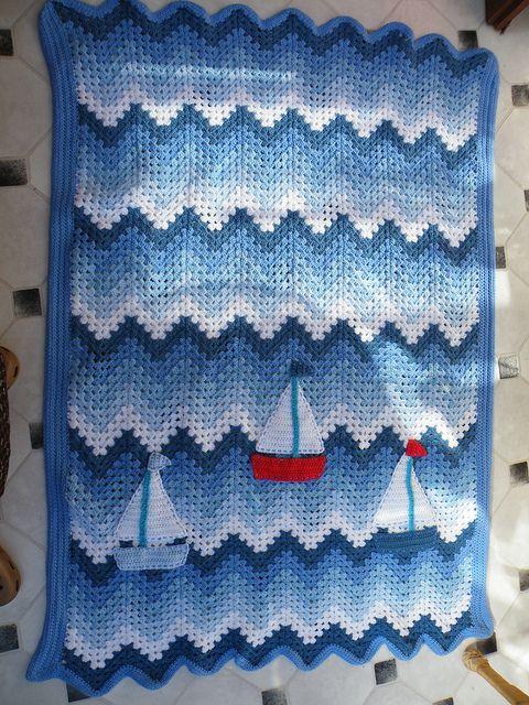 Williams Boat Blanket/Afghan | Crochet Afghans, Blankets, Throws ...