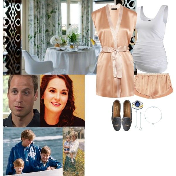 Waking Up to A Nice Breakfast & William Sharing His Childhood Memories by madeleine-duchessofcam on Polyvore featuring Kiki de Montparnasse, Isabella Oliver, J.Crew, Elsa Peretti and Rascal