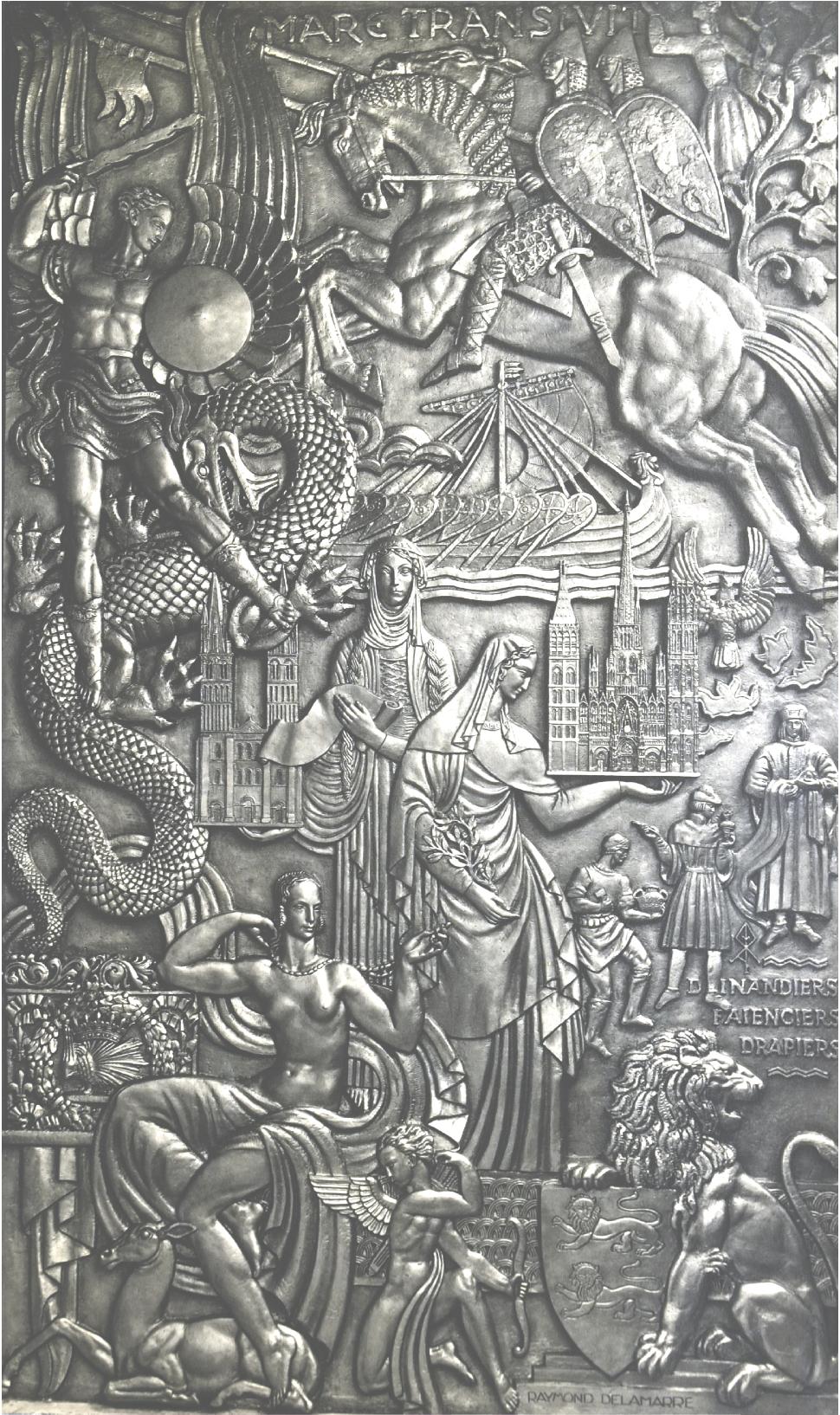 Bas-relief pour le paquebot Normandie (1935) Raymond Delamarre ...