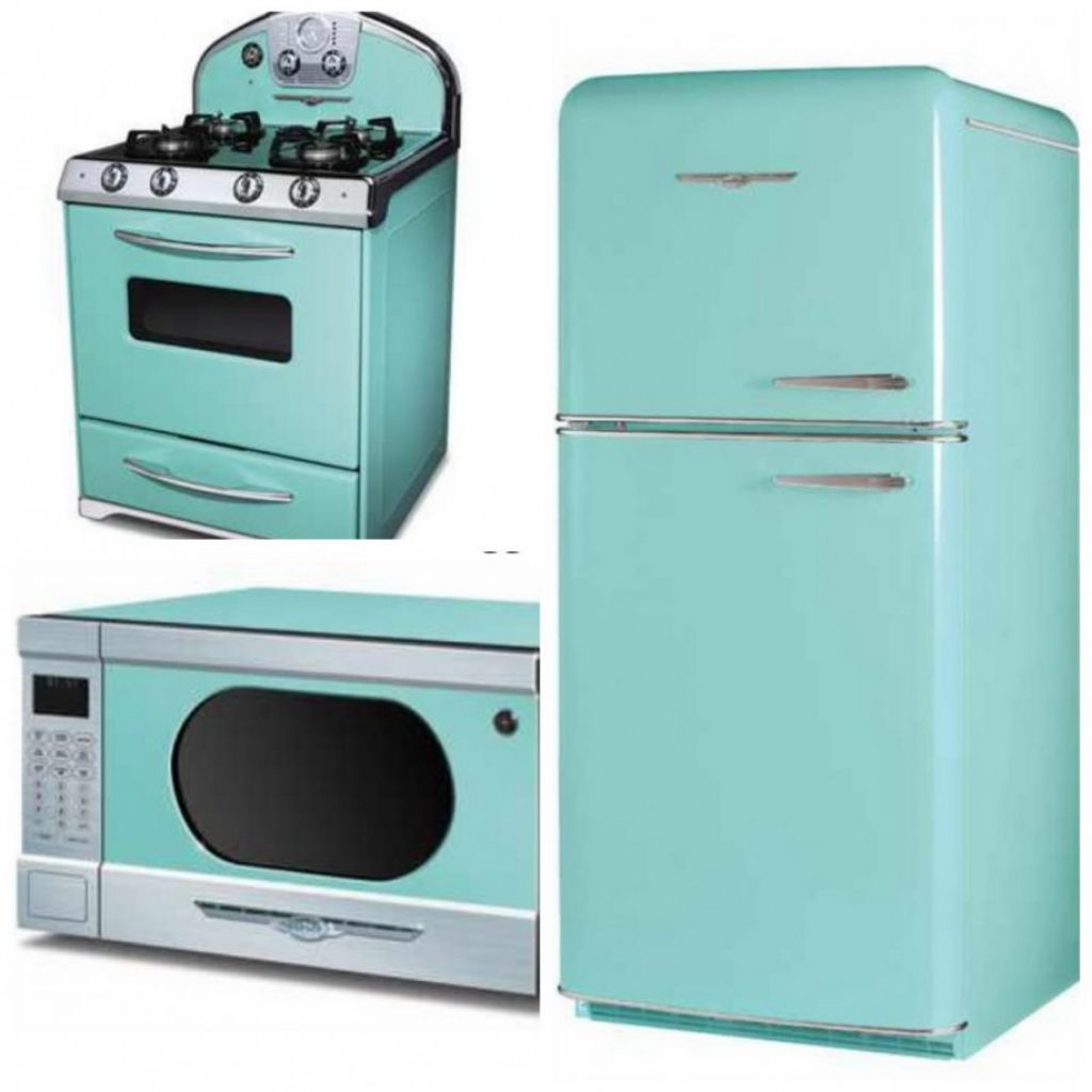 Turquiose Kitchen Appliances with Classy Design and Retro Look ...