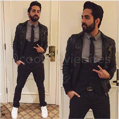 Coolmoviebites Ayushmann Khurrana Grey Shirt Bollywood Fashion