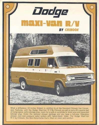 1975 Dodge Van : dodge, Dodge, Maxi-Van., Closest, Could, Find,, Didn't, White, Windows, Around., Tourist,, Chinook,, Chinook, Camper