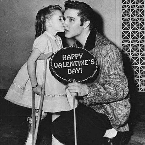 Elvis with a little fan