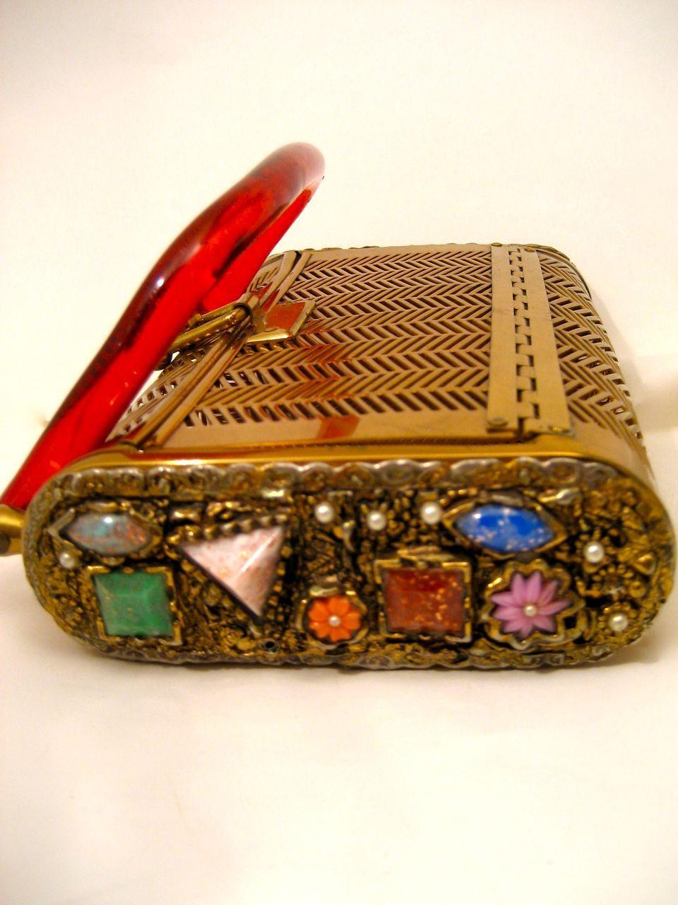 Vintage Dorset Rex Jeweled Purse Bag Handbag
