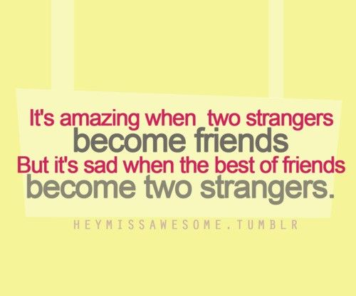 Strangers Can Become Best Friends Quote Strangers Become
