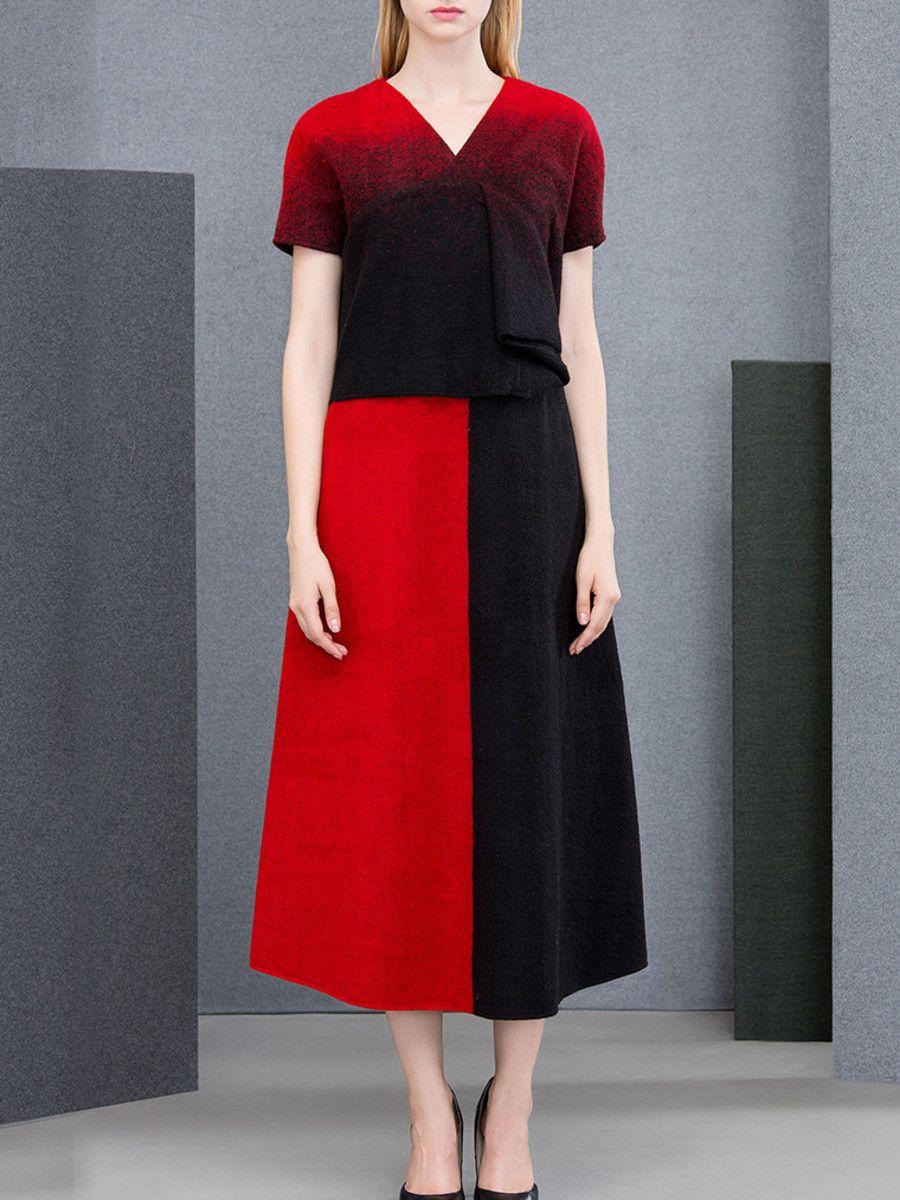 Printeddyed wool blend midi dress fashion clothing styles