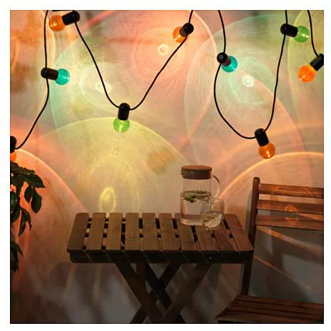 Solvinden Led Lighting Chain With 12 Bulbs Outdoor Multicolour Price From Ikea In Egypt