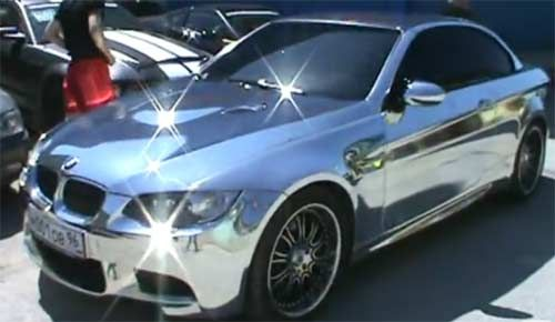 BMW made entirely of chrome | Cars and motorcycle | Pinterest ...